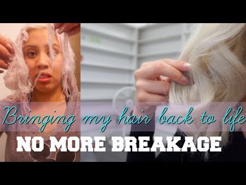 REVIVING MY HAIR AFTER BLEACH FAIL- APHOGEE TWO STEP PROTEIN TREATMENT