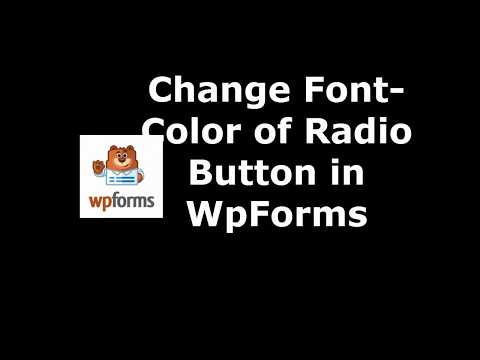 Free Plugin to Set Radio Button Font color in WpForms