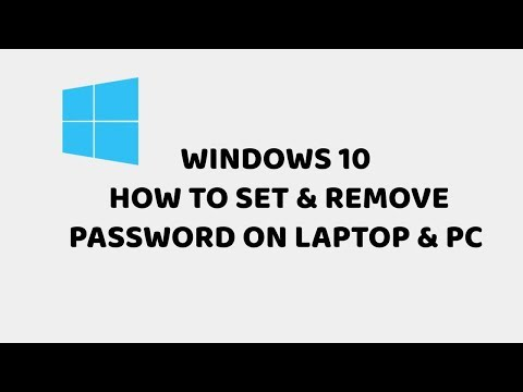 Windows 10 - How To Set & Remove Password On Laptop & PC |  Easy Tutorials in Hindi