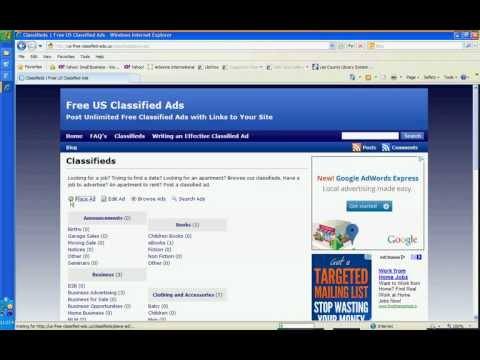 How to Place A Free Classified Ad With Links to Your Website