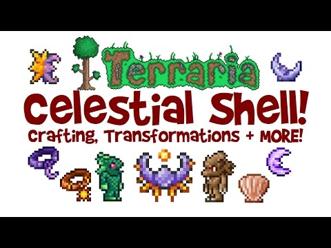 How to get Celestial Stone & Shell in Terraria! Moon & Sun Stone, Moon Charm & Neptune's Shell!