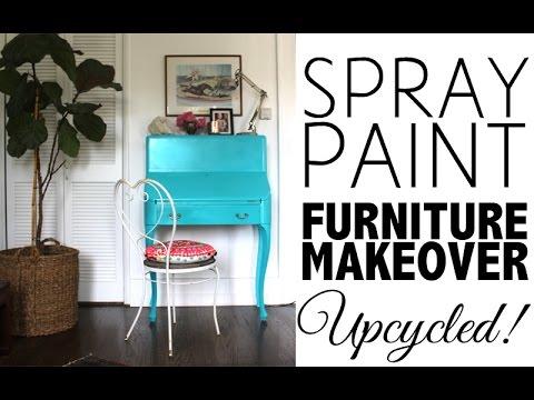 DIY Spray Paint Furniture Makeover | Home Decor