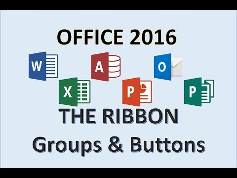 Office 2016 - The Ribbon - Identify Components of Microsoft Icons - Computer Component Tools on MS