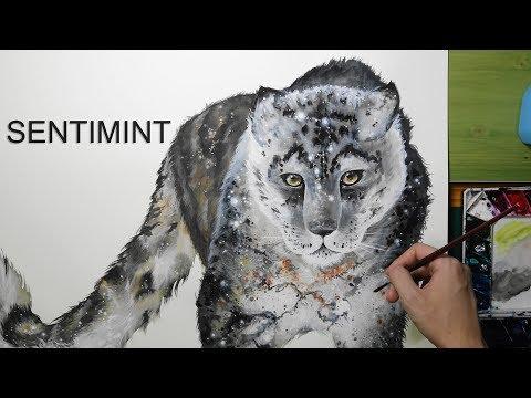 [Watercolor] Big Dipper X Snow Leopard - 1 Hour