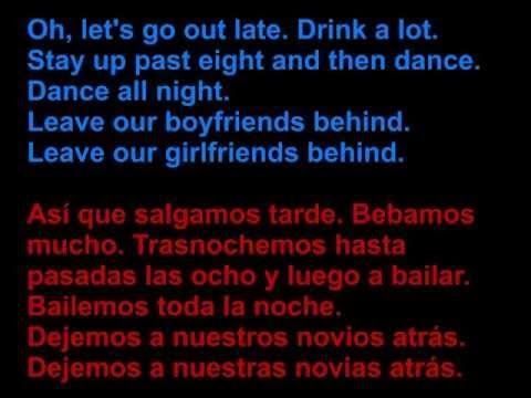 Leona Naess - Leave your boyfriend behind - Letra en español y en inglés en la pantalla