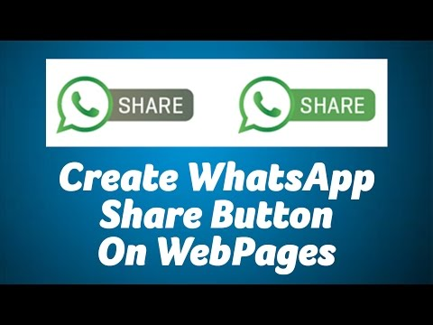 Create WhatsApp Share Button on WebSites
