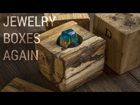 Making Solid Wood Jewelry Packaging Boxes From Oak Logs