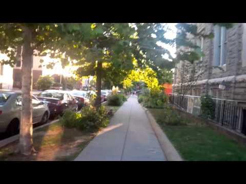 Walk on P street from Logan circle to Dupont circle