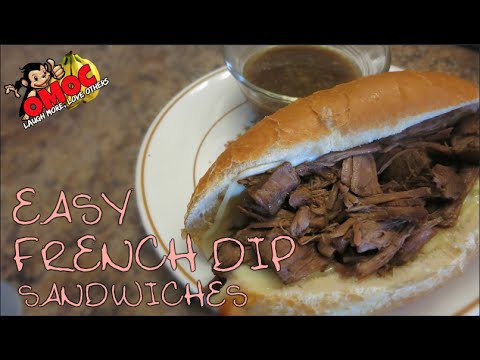 Easy French Dip Sandwiches // Crockpot Meals // SAHM