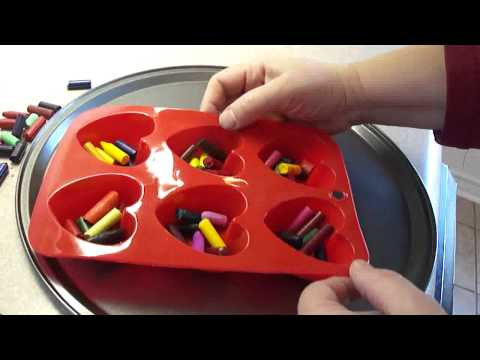 How to make heart shaped crayons