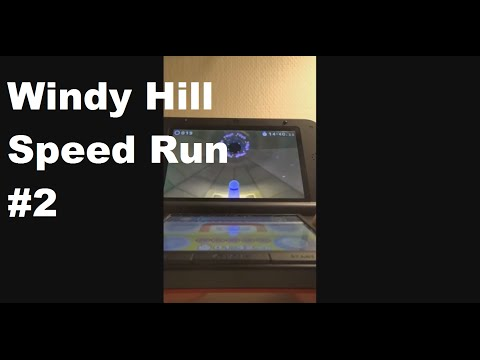 Sonic Lost World 3DS Speed Run Windy Hill Zone 2 Sonic & Super Sonic