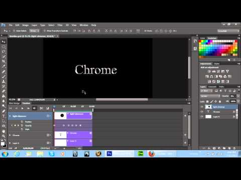 Adobe Photoshop CS6 Timeline Animation Project - Shimmering Light