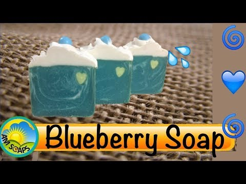 Making and Cutting Blueberry Cold Process Soap