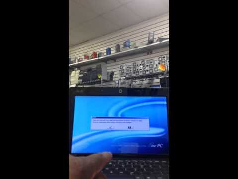 How to set your Asus Eee PC 1005 HAB back to factory