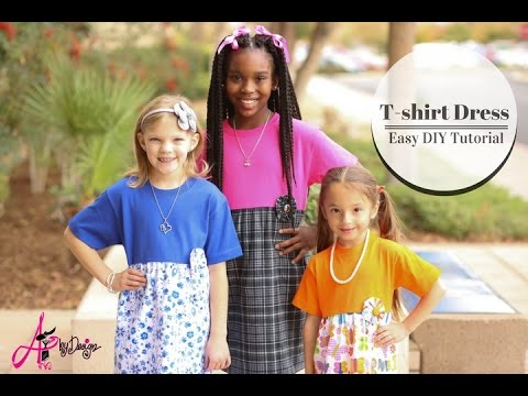 How to Make an Easy T-shirt Dress