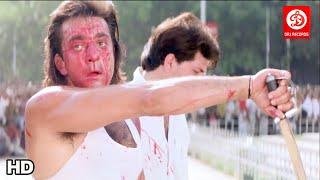 Sanjay dutt movie scene   Sanjay Dutt, Raveena Tandon, Karishma Kapoor   Aatish Movie scene