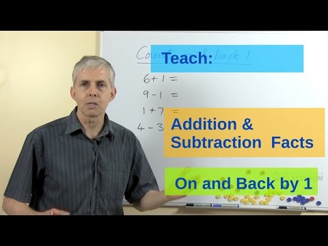 Teach Addtion & Subtraction Facts: Count On & Back By 1