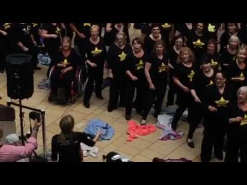 Rock choir flash mob Bristol