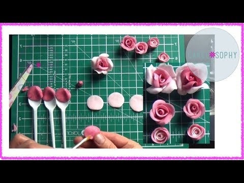 Making Sugar Flowers: Cupcake Fondant Roses ( No Cutters!)