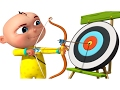 Zool Babies Playing Archery Cartoon Animation For Children Five Little Babies Series