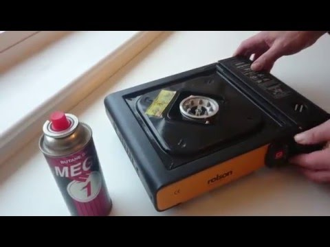 Rolson portable gas stove demonstration and safety tips