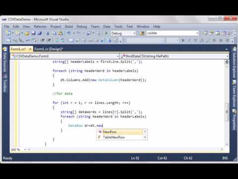 Display CSV data in DataGridView (C# code)