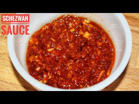 Schezwan Sauce - HomeMade Schezwan Sauce Recipe- Chinese Sauce Recipe-Harshis Kitchen