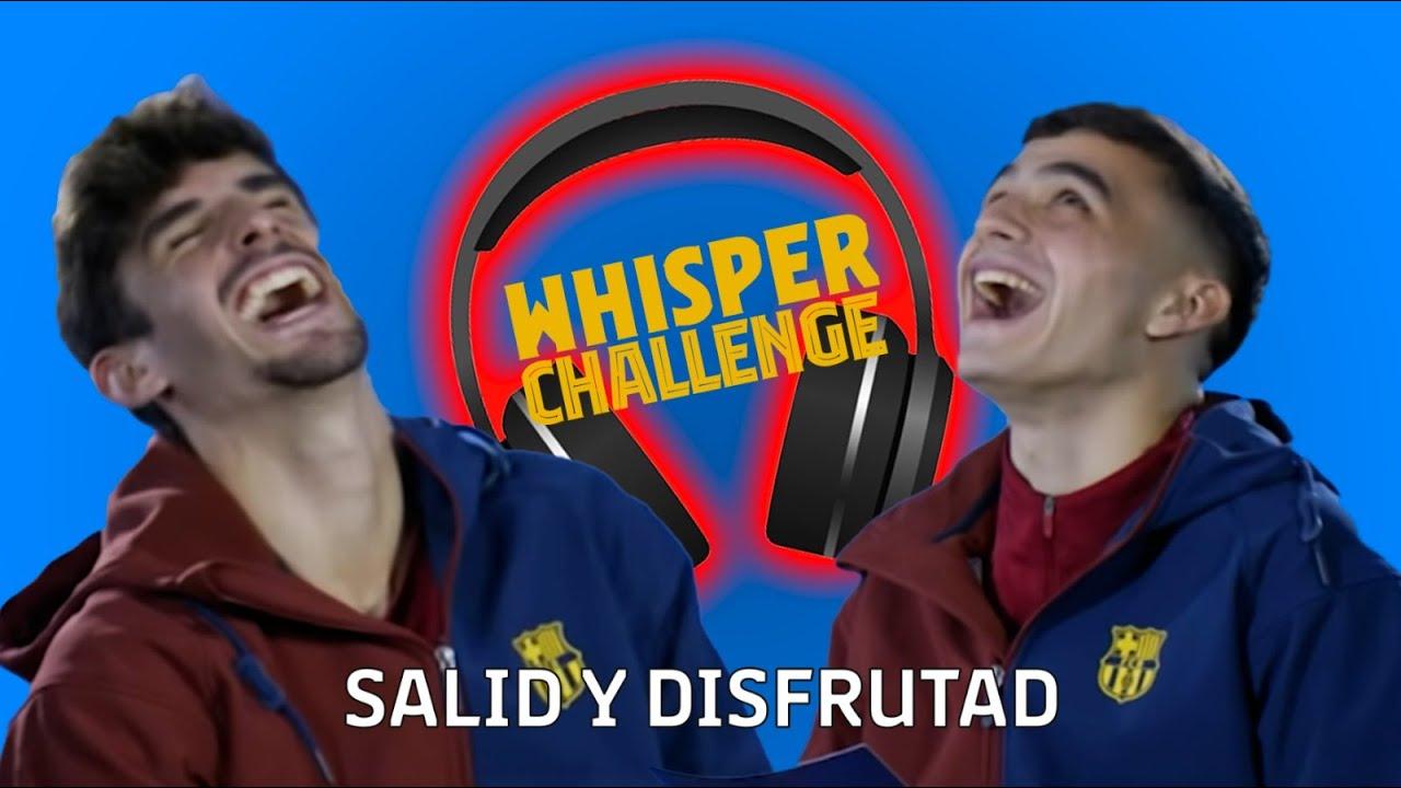 🎧🤣 WHISPER CHALLENGE: PEDRI vs TRINCAO