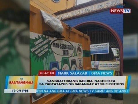 Sangkaterbang basura, nakolekta sa pagtatapos ng barangay at sk elections