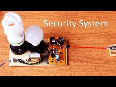 How to make Security  light alarm System circuit at home - Laser Alarm light circuit