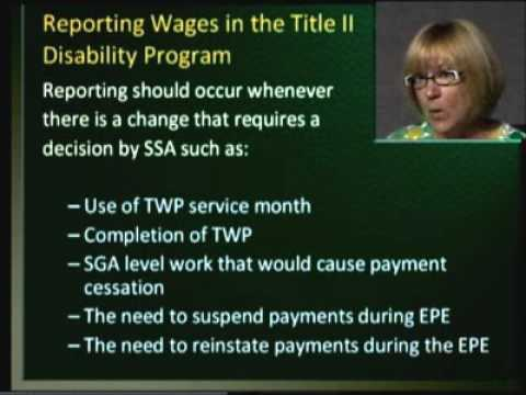 Wage Reporting for Beneficiaries of SSA Disability Programs