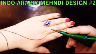 INDO ARABIC MEHNDI DESIGN # 2