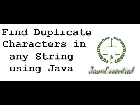 Write a java program to print duplicates character from String in java Interview Question