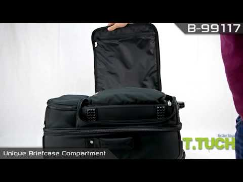 TTUCH - Traveler's 3 In 1 Rolling Luggage Detachable Laptop Case B-99117