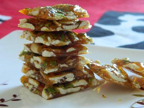 लोनावला की प्रसिद्ध ड्राई फ्रूट चिक्की   Dry Fruit Chikki   Dry Fruit Brittle Lonavala Famous Chikki