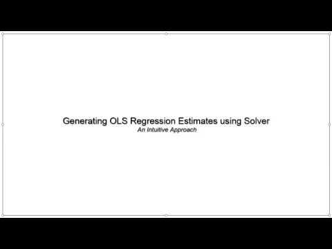 OLS Regression Estimates using Solver