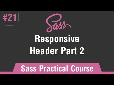 Sass Practical Course in Arabic #21 - Responsive - Header Part 2