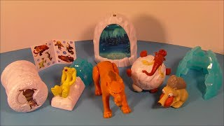 2014 BLUE SKY ICE AGE SET OF 6 BURGER KING KID'S MEAL TOY'S VIDEO REVIEW