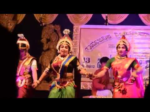 Shashikant shetty in Ambe or Amba part :- Yakshagana  beautiful dance !!!!
