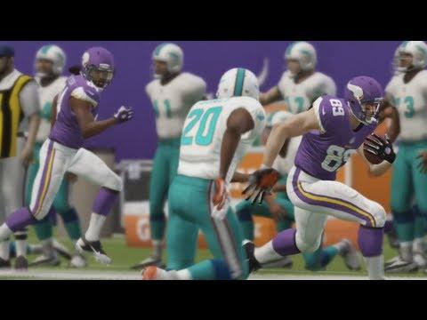 Madden NFL 25 - Vikings vs Dolphins Gameplay (Xbox 360) Full Game!
