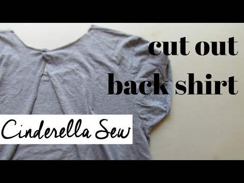 Cut open the back of a t-shirt - DIY backless tshirt tutorial - How to cut back of shirt