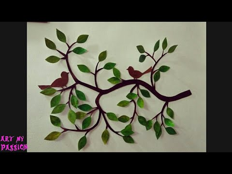 How to Make Paper Wall Hanging   DIY Wall Decor   DIY Home Decor   DIY Wall Hanging  artmypassion