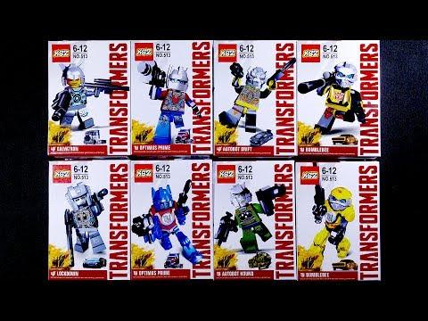 LEGO Transformers Minifigures (bootleg / knock-off) Optimus Prime Bumblebee Galvatron
