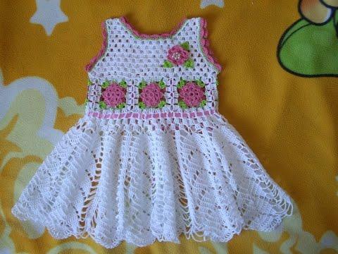 Vestido Para Niña Tejidos A Crochet Parte 1 Pakvimnet Hd