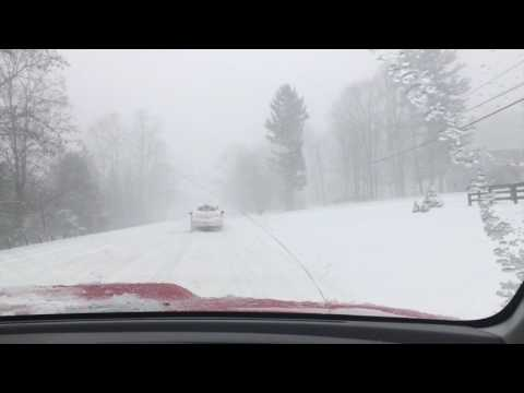 Driving in the Blizzard of 2017, Nor'Easter Whiteout Scary!!!