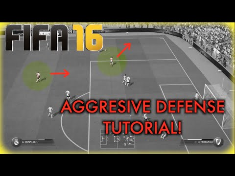 FIFA 16 AGGRESIVE DEFENSE TUTORIAL! (How to beat LEGENDARY AI and Possesion Players)