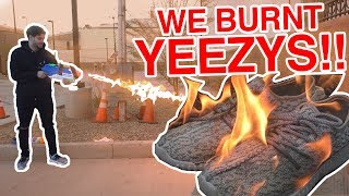 Download HOMEMADE FLAMETHROWER VS. $1000 SHOES Video