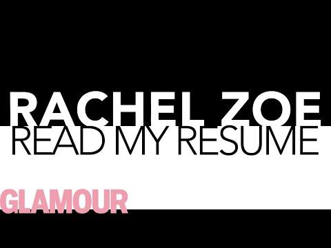 Rachel Zoe's Career Advice: How to Write a Resume