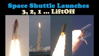 Space Shuttle Liftoff Compilation 👨🏼‍🚀 (T-10 Countdown ⏱)