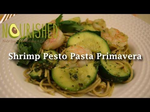 Shrimp Pesto Pasta Primavera